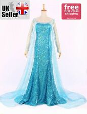 ADULT FROZEN STYLE PRINCESS ELSA COSPLAY DRESS PARTY FANCY COSTUME