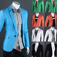 2015 CHEAP Mens Slim Fit One Button Formal Blazer Casual Suit Coat Jacket Formal