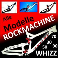 "RockMachine WHIZZ-30-50-70-90 DH/Freeride-Rahmen MTB Fully 190mm/16,5"" 4-Modelle"