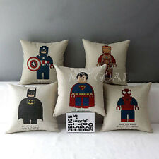 Superman Superhero Batman Spiderman Cotton Linen Pillow Case Cushion Cover Decor