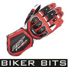 RST TRACTECH EVO Red Motorbike Leather Sports Gloves S M L XL 2XL NEW 2013