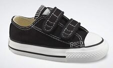 Converse Chuck Star Black White 2 Strap Infant Toddler Boy Girl Shoes Size 2-10