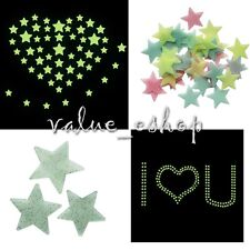 100Pcs Home Wall Ceiling Glow In The Dark Stars Stickers Decal Baby Kids Bedroom