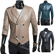 Korean Version Of The Double-Breasted Collar PU Leather Waterproof Jacket