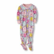 THE CHILDREN'S PLACE GIRL BABY CHICKS BUNNY RABBITS EASTER PAJAMAS 12-24M 2T