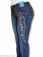 Montana West Trinity Ranch Rodeo Jeans,Boot Cut Silver Embellishments JN-TR008