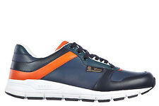 GUCCI MEN'S SHOES LEATHER TRAINERS SNEAKERS NEW MIRO S BLUE 096