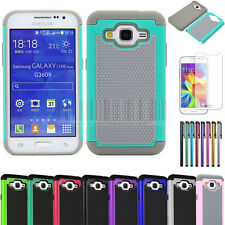 Impact Rugged Hybrid Case Cover For Samsung Galaxy Core Prime Prevail LTE G360
