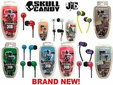 H68 *NEW* Skullcandy JIB Earbuds Noise Isolating Earphones, Black/Blue/Red/Green