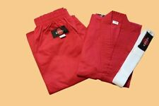 KANKU Karate Uniforms Red for Adult and Kids 7.5oz, Karate gi, Martial Arts