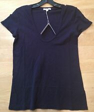 James Perse Casual T Black Cotton Size JP1-4 NWT Lightweight & Buttery Soft $60
