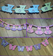 Personalised Wooden Bunting. Many Shapes. Any Name And Colour. Price Per Letter