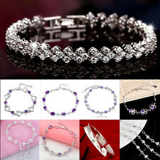 Wholesale 925 Sterling Solid Silver Woman Fashion Chain Bracelet Christmas Gift