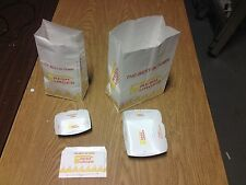 Food Grade Paperbag Burger Container Paper Bag Trays Greasproof lining lot of 50