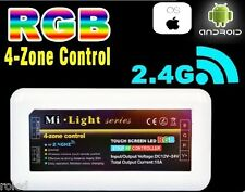 RGB LED Controller 4 Zonen Touch Remote WIFI APP 2,4 GHz Milight Mi-Light Strip