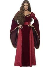 Ladies DELUXE Medieval Queen Costume Adult Renaissance Tudor Fancy Dress Outfit