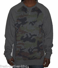 Levis Sweater New Mens Cullen Gray Camo Crew Neck Pull Over Choose Size