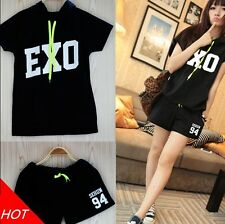 Fashion One Average Size Girl's EXO Member Printing Top T-shirt with Short New