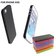 0.3mm Ultra Thin Back Transparent Matte Back Case Cover Skin For iPhone 5 5S