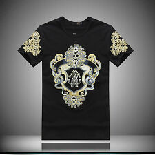 Just 2015  NWT Men's Summer Cavalli pattern printed  T-shirt/Top 3 colors 4 size