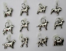 o1 1x MY FAVORITE PET Dog Breed Charm Pendant for Necklace your choice