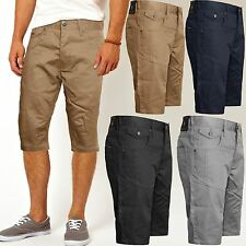 MENS CHINO SHORTS CROSSHATCH AMALGA KNEE LENGTH CARGO COMBAT PANTS SUMMER
