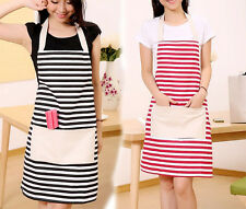 New Women Cute Kitchen Bib Apron Dress with Pocket Cooking Canvas Aprons Gift 2#