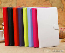 Leather 7 Inch Tablet Flip Cover for Tab Carry Case Pouch Stand Universal 7""