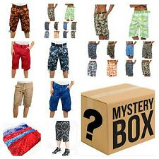 Assorted 5 Piece mens cargo shorts SOLID AND CAMO SHORTS WHITE BLACK CAMO SHORT
