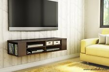 Wall Mount Media Center Shelf Floating Entertainment Console TV Stand Cabinet