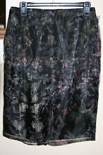 MNG by Mango Floral Illusion Pencil Skirt 6, 8