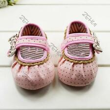 Mary Jane Shoes Baby Girls Princess Polka Dots Bow Soft Sole Toddler Shoes 0-12M
