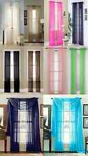 "1 PCS WINDOW CURTAINS SHEER PANELS  TREATMENT DRAPES 63"" 84"" 95""  MANY COLORS"