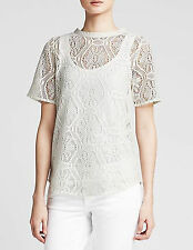 NWT Banana Republic New $59.50 Women Lace Shirttail Top Size PS, PM, PL