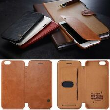 Leather Flip Wallet Case For iPhone 5S SE 6 6S & PLUS Luxury Genuine PU Cover