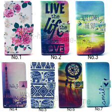 Hot Sale Flip PU Leather Wallet Cards Holder Stand Case Cover For Various Phones