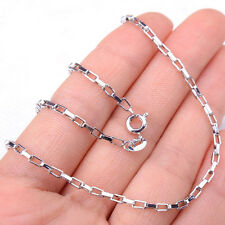 Gracious Square Rectangular Chain Chic 925Sterling Silver Necklace Jewelry H1297