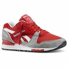 REEBOK GL6000 M46407 RED GREY  WHT MENS ATHLETIC RUNNING SNEAKERS SIZES 8-13