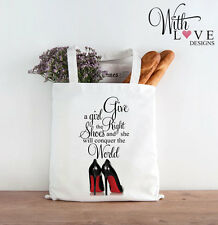 RIGHT SHOES MARILYN MONROE QUOTE TOTE SHOPPER SHOPPING BAG PERSONALISED