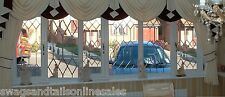 "LUXURY SWAGS AND TAILS+SHOW CURTAINS,FITS WINDOWS 106 to130"" (269-330cm) WIDE"