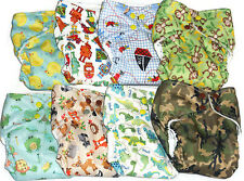 AIO Cloth diaper w/ Bamboo Hemp Fleece, Cotton terry and Zorb Fabric