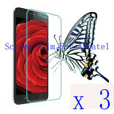 3 Clear Glossy Matte Screen Protector Film Cover Pouch For Alcatel Mobile Phone