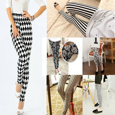 HOT Sexy Women Skinny Print Leggings Stretchy Jeggings Pencil Pants
