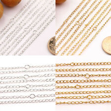 Top 10/50Pcs Gold/Silver/Plated Twisted Clasp Rings Chains Jewelry Finding 19.7""