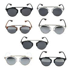 So Real Unisex Sunglasses Christian Designer Cat Eye Vintage Mirror Lens Cheap
