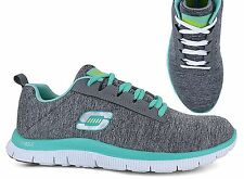 New! Skechers Womens Flex Appeal Next Generation Running Shoes-Grey/Mint (H20)