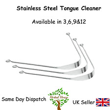 STAINLESS STEEL TONGUE CLEANER - ORAL HYGIENE SCRAPER - COPPER OR SILVER