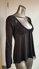 NEW Frederick's Of Hollywood Low Cut Gathered Neckline Top Blouse