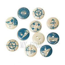 50/100x Mixed Wood Yachting Buttons Collections Sewing Scrapbook Cardmaking 15mm