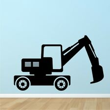 CONSTRUCTION EXCAVATOR wall decal silhouette kids bedroom wall decals